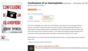 "Robert Spencer's <em>Confessions of an Islamophobe</em> ""#1 New Release in Islam"""