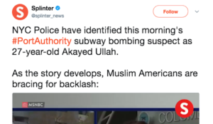 """In the wake of the NYC subway jihad bombing, """"Muslim Americans are bracing for backlash"""""""