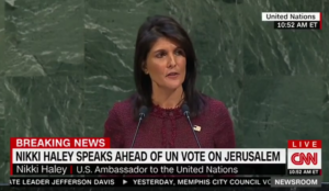 """Haley: US """"being asked to pay for the privilege of being disrespected,"""" threatens to cut off funding to UN"""