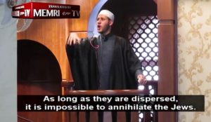 "Muslim cleric says Allah has gathered the Jews in Israel to make it easier to ""annihilate"" them"