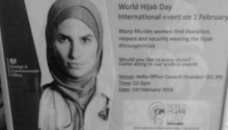 As Iranian women cast off hijab as symbol of oppression, UK Foreign Office celebrates World Hijab Day