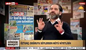 """Turkish TV host to secular newspaper editors: """"I wish there was Sharia in this country, then they would hang you all"""""""