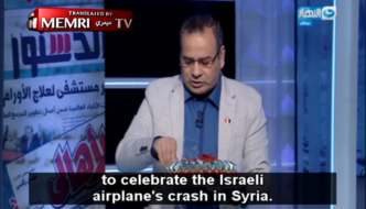 Egypt: Muslim TV host hands out chocolates to celebrate downing of Israeli F-16