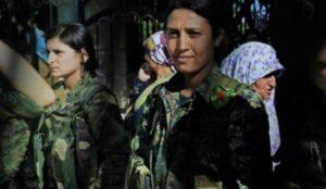 "Free Syrian Army jihadis screaming ""Allahu akbar"" mutilate, desecrate body of Kurdish female fighter"