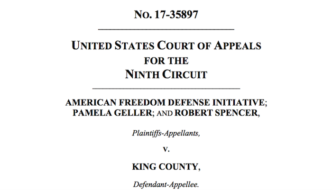 "AFDI lawsuit: ""Speech may not be banned on the ground that it expresses ideas that offend"""