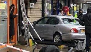 London: Passover shoppers injured as car mounts pavement and plows into pharmacy