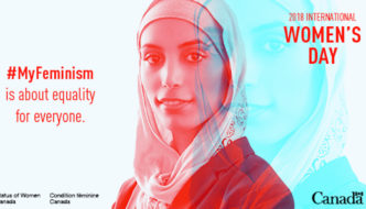 """Canadian government issues Women's Day image of hijabi: """"#MyFeminism is about equality for everyone"""""""