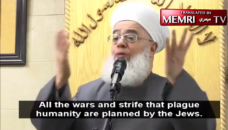 """Muslim cleric: """"All the corruption suffered by humanity is planned by the Jews"""""""