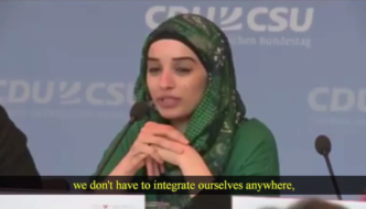 "Video from Germany: Muslim spokesperson says ""we don't have to integrate"""
