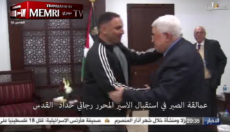 """""""Moderate"""" Abbas welcomes jihad murderer released from prison as a returning hero"""