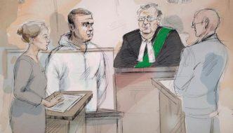 Toronto van attacker bald in arrest photos yesterday, has full head of hair in court sketches today