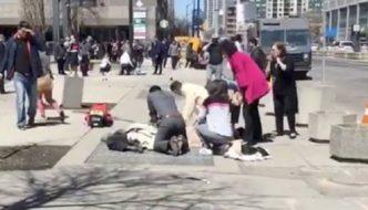 Breaking news in Toronto: van mows over up to 10 pedestrians