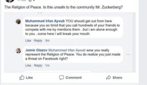 Jamie Glazov: Facebook Bans Me For Reporting a Muslims Threat