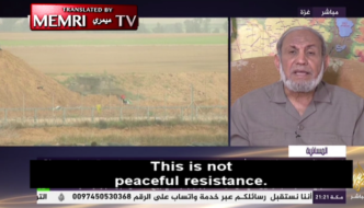 "Hamas top dog: ""This is not peaceful resistance. When we talk about peaceful resistance, we are deceiving the public"""