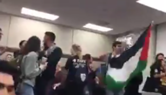 """UCLA: """"Palestinian"""" students rip down Armenian and Israeli flags at event on indigenous peoples"""