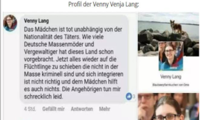 Germany: Politician from Merkels party says girl murdered by Muslim migrant would have been hit by a car