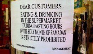 "Ramadan: ""If I Can't Eat, Neither Can You"""