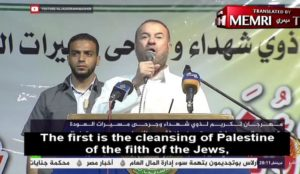 "Hamas top dog boasts that ""the cleansing of Palestine of the filth of the Jews"" will happen within four years"