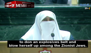 "Jordanian MP: My late mother's desire was ""to don an explosives belt and blow herself up among the Zionist Jews"""