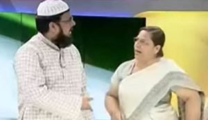 Video from India: On TV show, Muslim cleric physically assaults female guest, a Supreme Court lawyer
