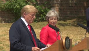 "Trump says UK is ""losing its culture"" due to migrant influx, May praises migrants' ""fantastic contribution"""