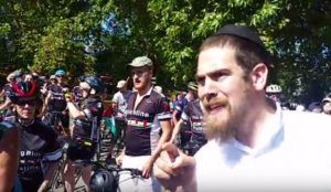 Video From Speakers Corner: Lone Jewish Man Confronts Jew-Hating Bicyclists
