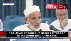 "Muslim cleric: The Jews' ""abominations…merited their transformation into apes and pigs"""