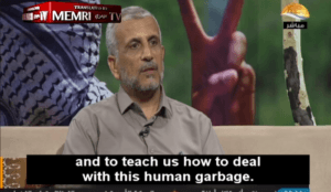 Muslim professor of Quranic Studies says Quran teaches how to deal with this human garbage, the Jews
