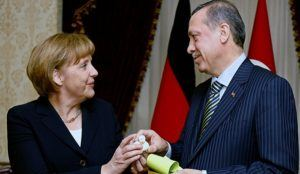 "Erdogan's visit to Merkel raises concerns EU will aid Turkey financially, ""support a path to Islamist dictatorship"""