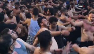 Video: Bare-chested Shi'ite self-flagellation reaches the streets of Toronto