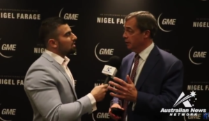 Video: Nigel Farage grows flustered, stalks out of interview when questioned about the jihad threat