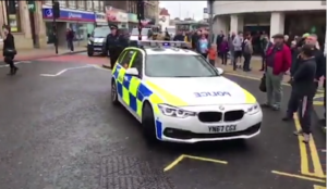 """UK: Hijab-wearing Muslima screaming """"Kill, kill, kill!"""" stabs one man, tries to stab others in busy town center"""