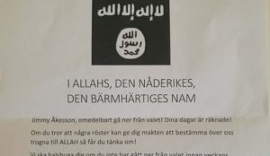 """Islamic State threatens Sweden Democrats leader: """"We will behead you if you do not withdraw from the election"""""""
