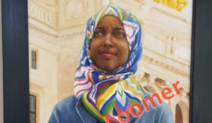 Minneapolis: Star Tribune hangs painting of corrupt, hijabbed, pro-Sharia Congressional candidate in its offices