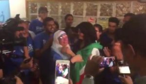 "Newly elected Socialist Muslim Rep. Rashida Tlaib wore ""Palestinian"" flag at primary victory celebration"