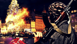 Islamic State publishes image depicting murdered Santa in Strasbourg square