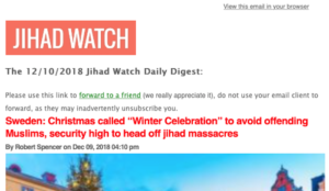 Did you subscribe to the Jihad Watch Daily Digest but are no longer receiving it?