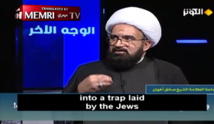 "Muslim cleric claims that story of Muhammad killing 900 Jews is a ""Holocaust-like lie"" fabricated by the Jews"