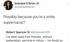 """Soledad O'Brien calls Robert Spencer """"white supremacist,"""" discovers he isn't, quietly deletes tweet without apology"""