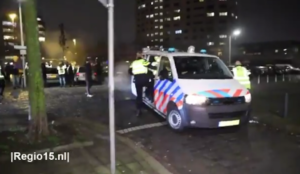 """Video from the Netherlands: Muslims screaming """"Allahu akbar"""" throw fireworks at police, who quickly retreat"""