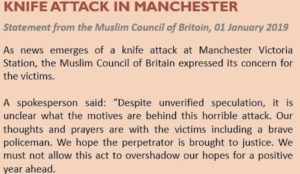 """Muslim Council of Britain on Manchester jihad attack: """"it is unclear what the motives are behind this"""""""