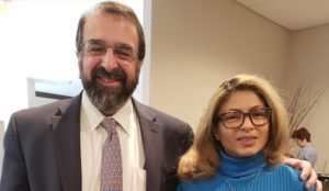 Robert Spencer meets with Ensaf Haidar, wife of Raif Badawi, imprisoned in Saudi Arabia for insulting Islam