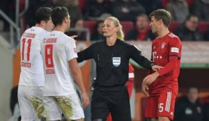 Iranian state television blocks German top football match because referee was a woman