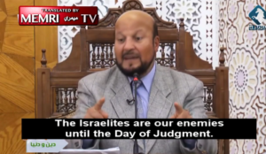 "Muslim prof: ""Israelites are our enemies until the Day of Judgment. Two state solution? What are you talking about?"""