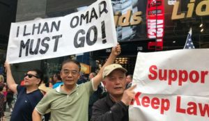 NYC: hundreds of Jews protest against Ilhan Omar at Times Square