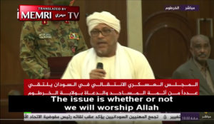Sudanese Clerics Appeal to Military Council to Instate Islamic Law: Caliphate Should Be Established