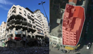 Israeli response to cyber attack is  a building demolition