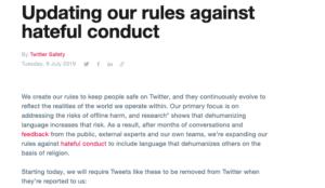 "Twitter unveils new ban on language ""dehumanizing religious groups"""