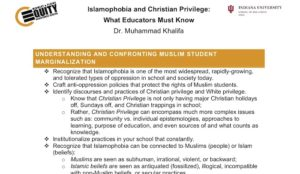 "Minnesota public school parents get ""Equity Survey"" from Muslim group that warns against ""Christian Privilege"""