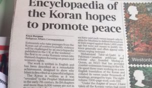 New Encylopedia of the Qur'an professes to show that the Islamic holy book teaches peace